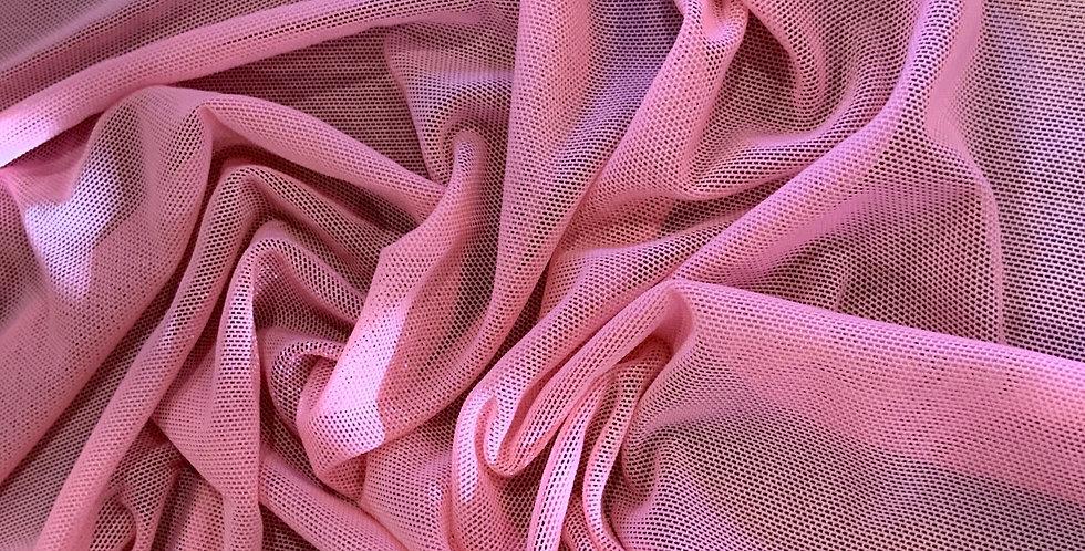 Dark Bubblegum Pink Lingerie Mesh Small Cut