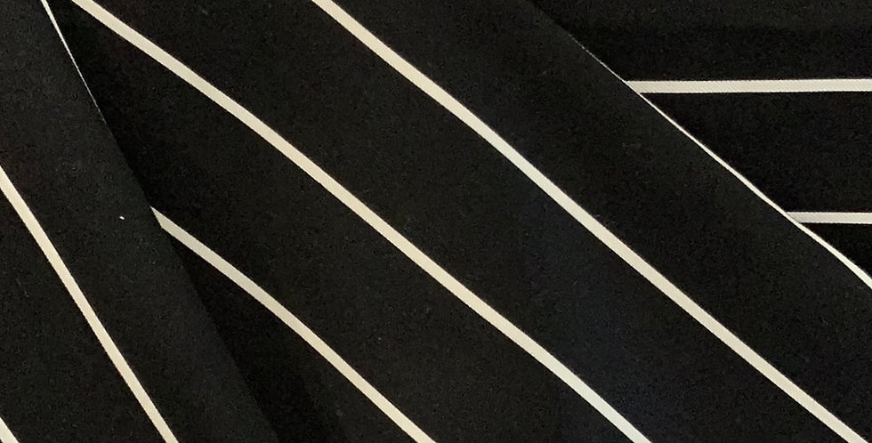 Gabrielle Black Stripe Viscose Suiting...