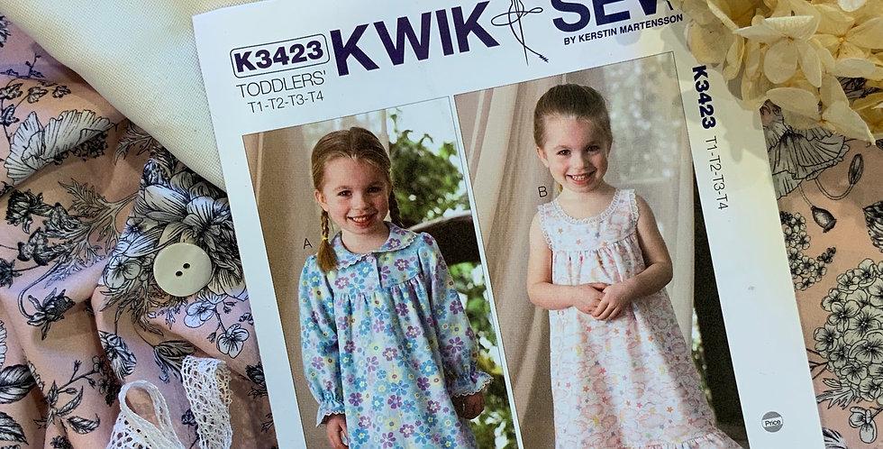 Cottage Garden Devonshire Lawn Toddlers 1-4 Summer Nightie Kit...