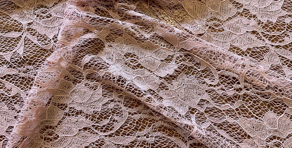 Dusty Pink Two Way Stretch Lace Piece...