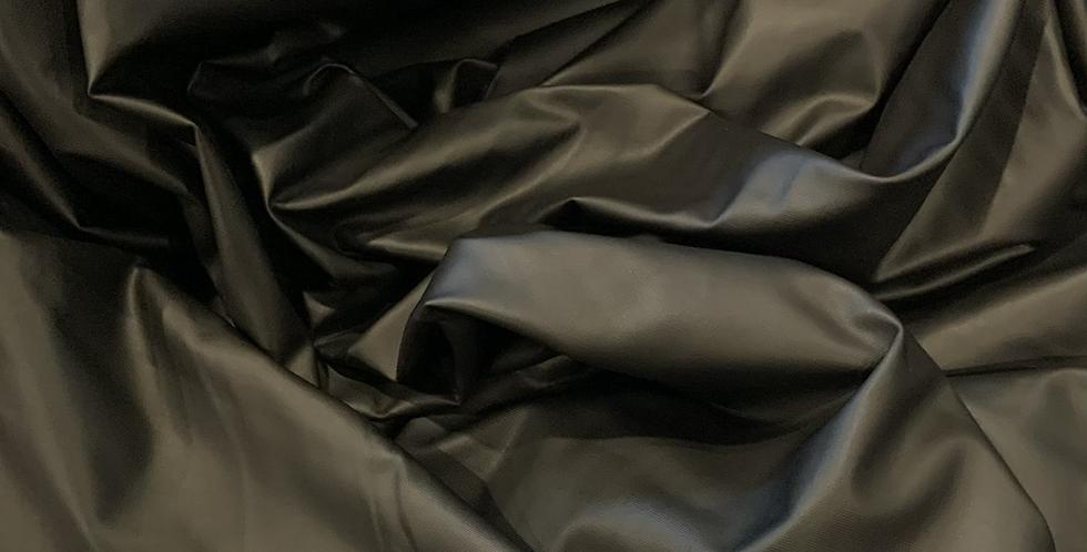 Black Leather Look Lightweight Jersey...