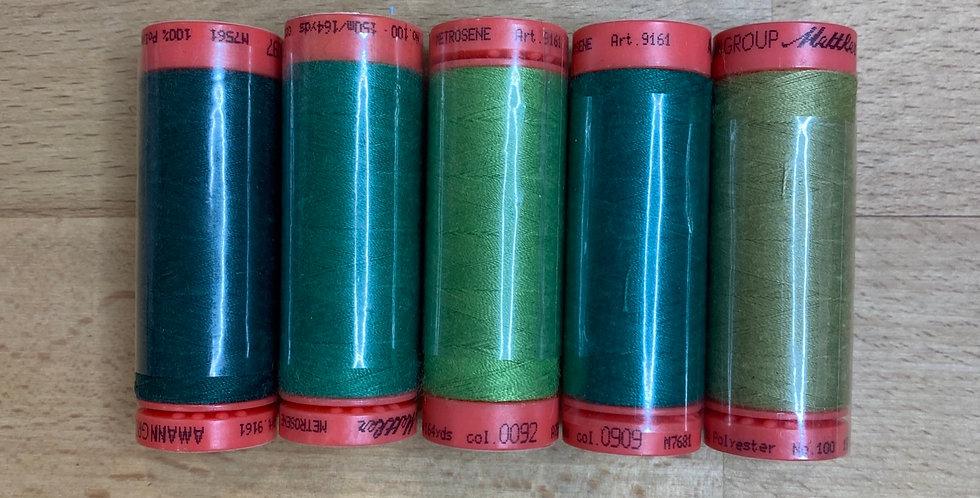 Metrosene Mixed Green Thread Pack #6