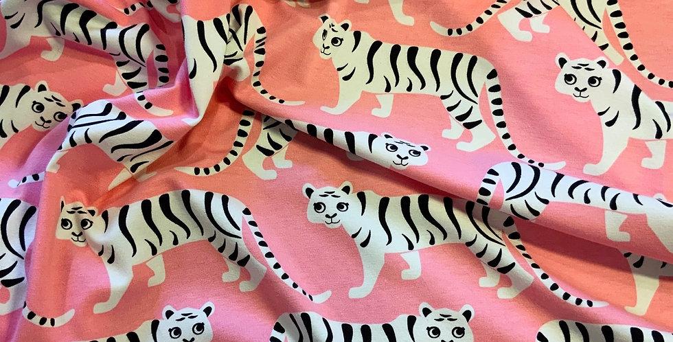 Paapii Tiger Parade Pink Organic Cotton Jersey….