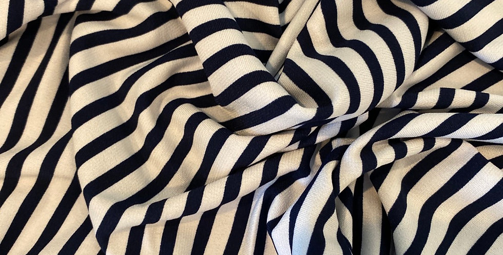 Sailor stripe polyester jersey
