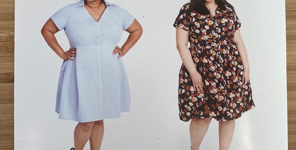 cashmerette lenox shirt dress printed pattern