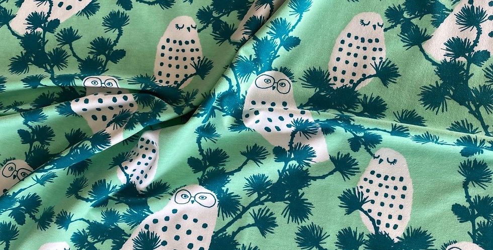 Paapii snowy owl organic jersey mint