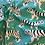 Thumbnail: Paapii Tiger Walk Turquoise Organic Cotton Jersey…