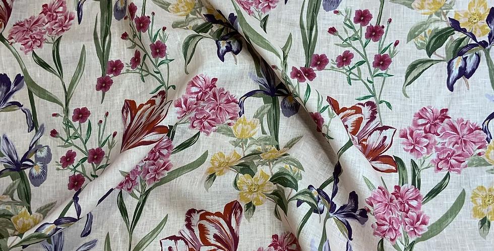 Blush Botanical Lightweight Linen...