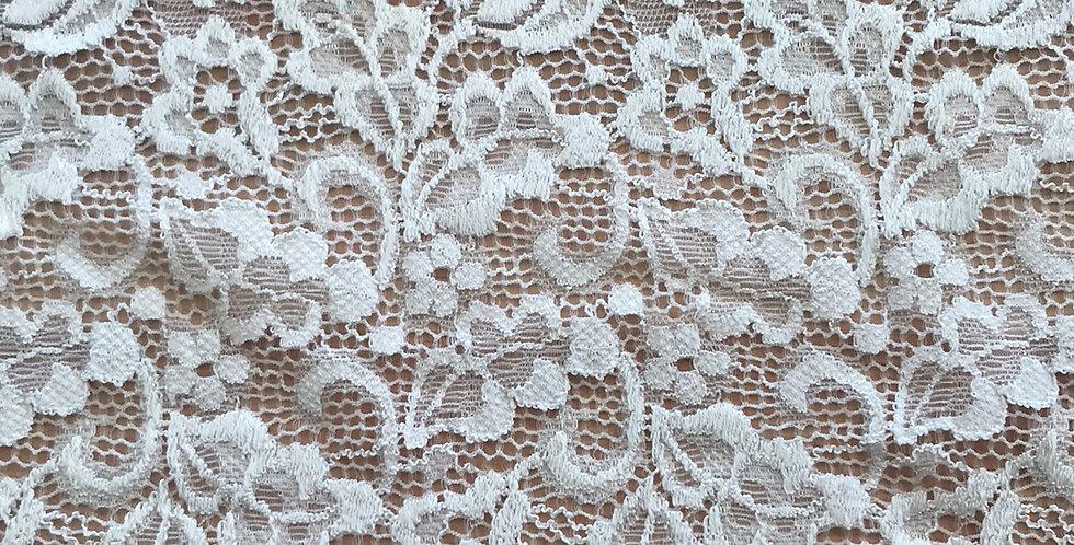 Cream garden Stretch Lace....
