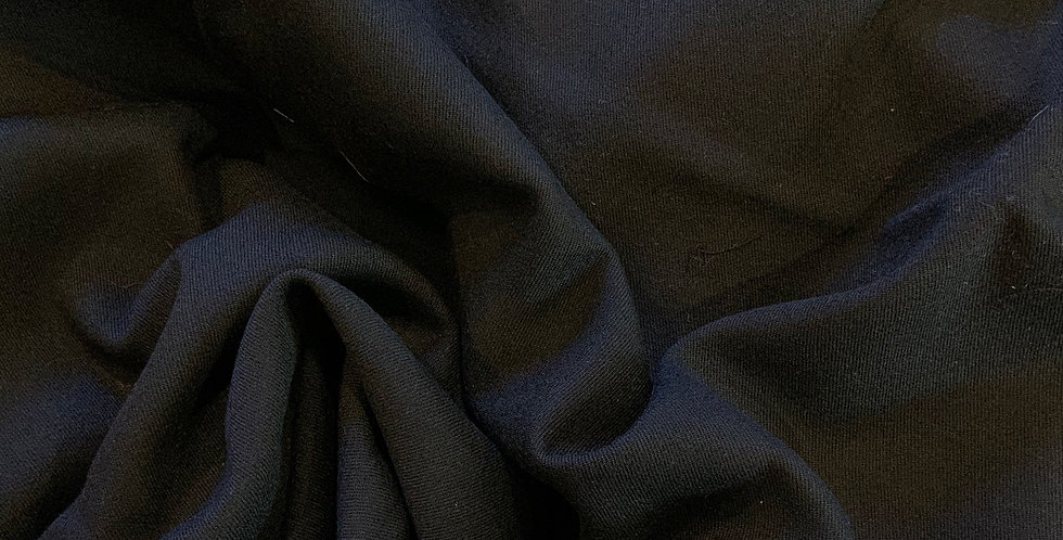 Black Lightweight Fine Twill Wool Suiting Remnant...