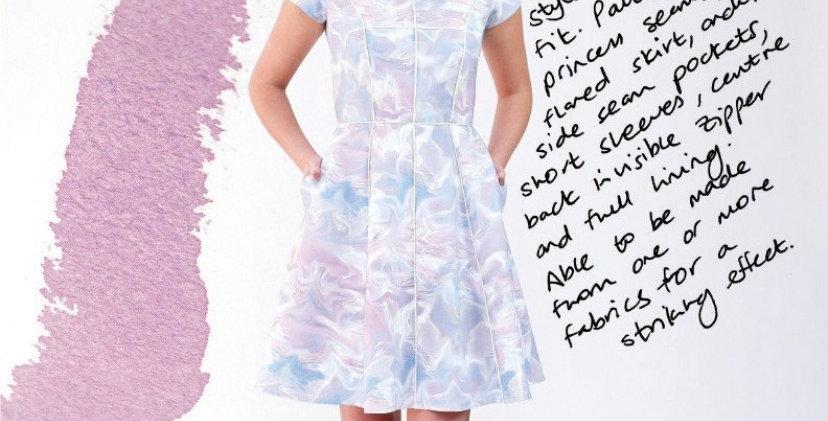 Megan Nielsen karri dress printed pattern