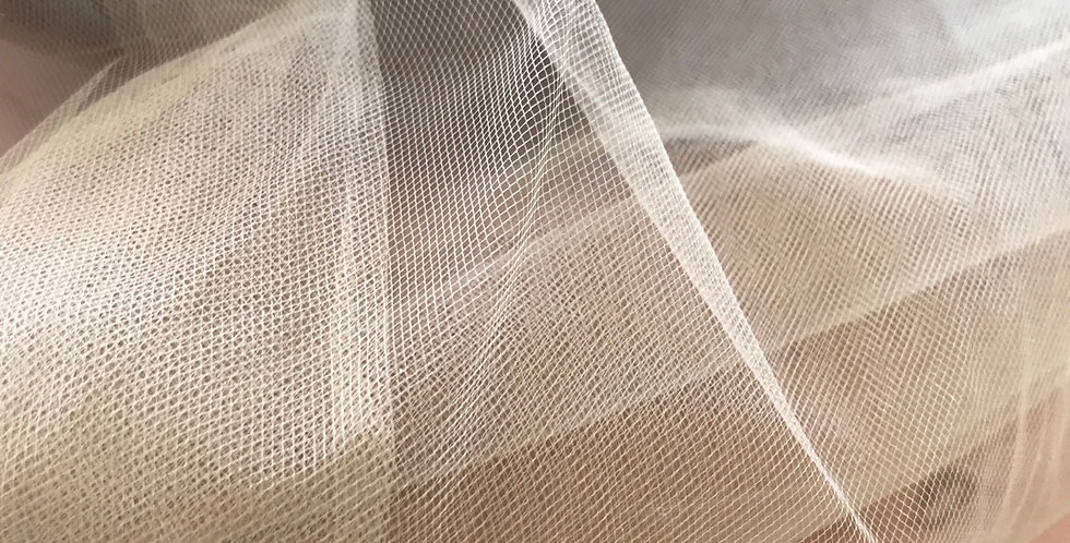 Antique gold bridal tulle