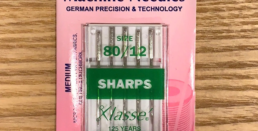 Size 80 Medium Sharps Machine Needles