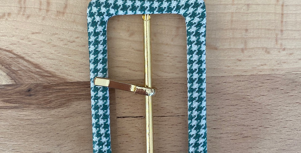 Emerald check buckle