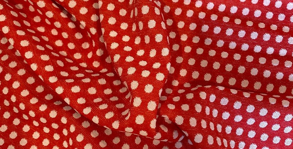 red spot vintage 1970's crimplene remnant