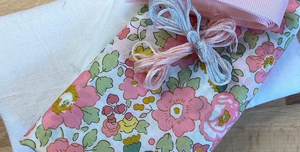 Betsy Liberty organic tana lawn bunny bag kit