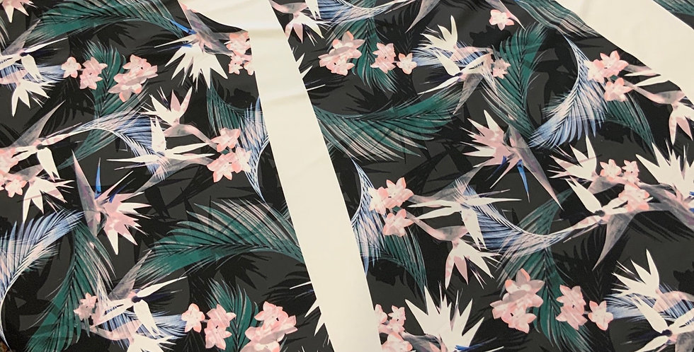 Bird Of Paradise Printed Spandex Tights Panel...