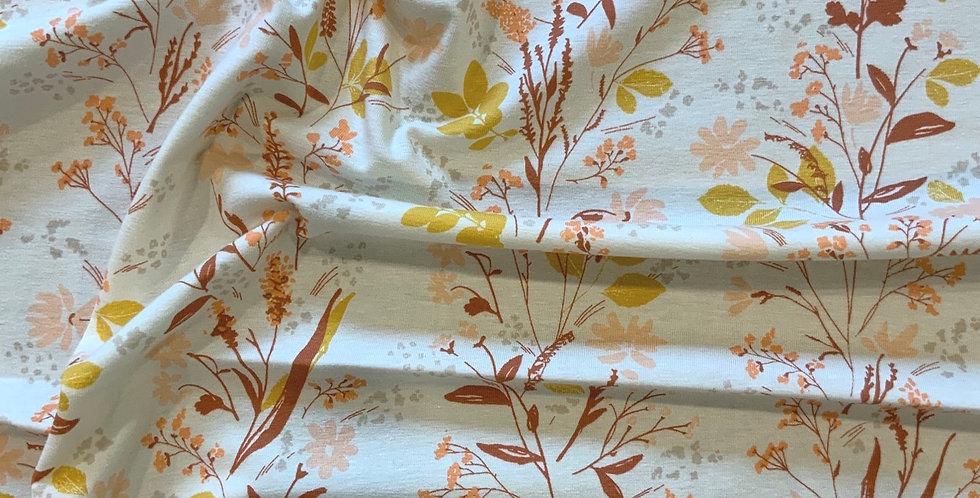 Art Gallery Fabrics Nature Walk Yellowstone Oeko-Tex Cotton Spandex Knit....
