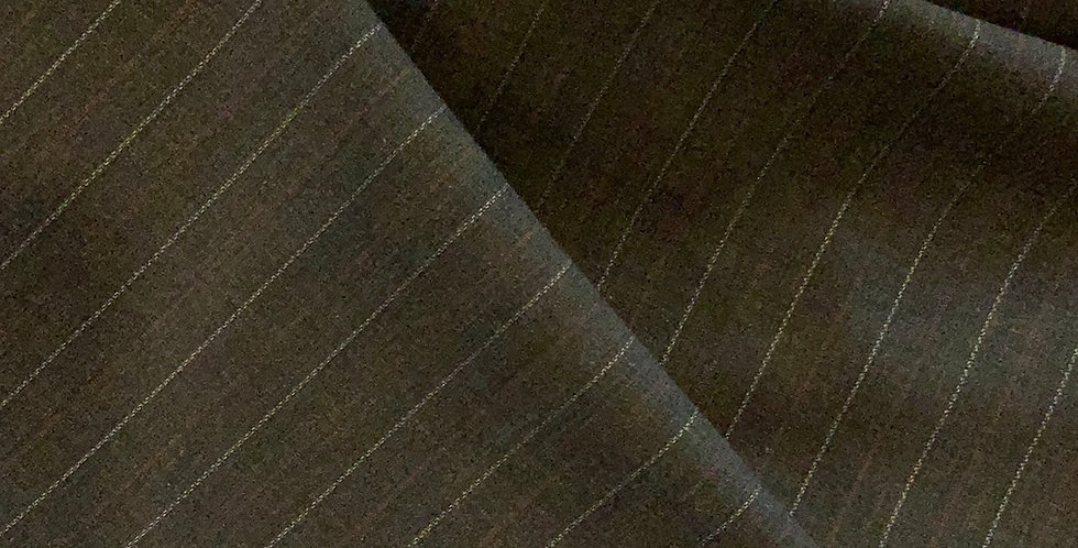 Maroon Pinstripe Fine Stretch Wool Suiting...