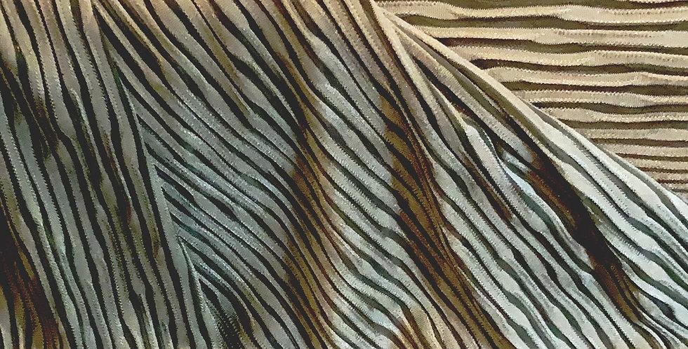 Textured Khaki Fine Jersey Knit....