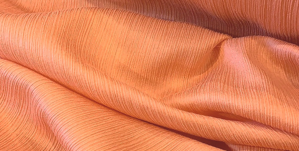 Faded Apricot Crinkle Silk Georgette