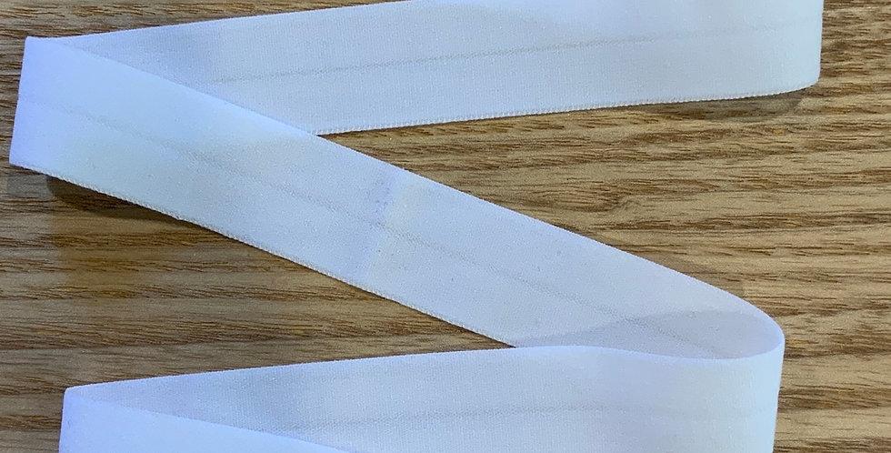 White Matte Foldover Elastic...