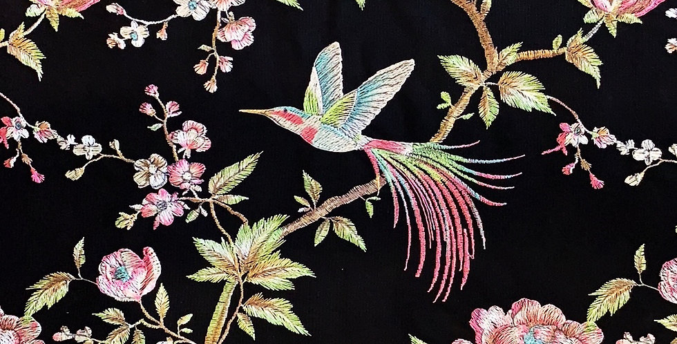 Imperial Birds Embroidered Mesh