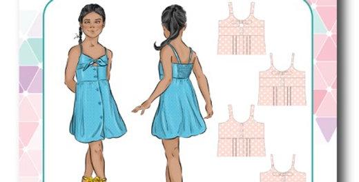tadah patterns gidget dress printed pattern