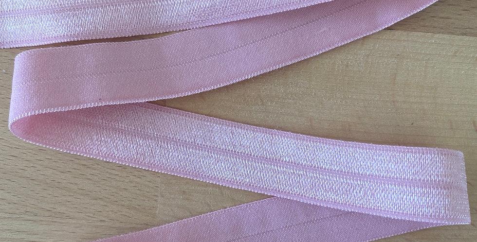Rose pink 15mm fold over elastic