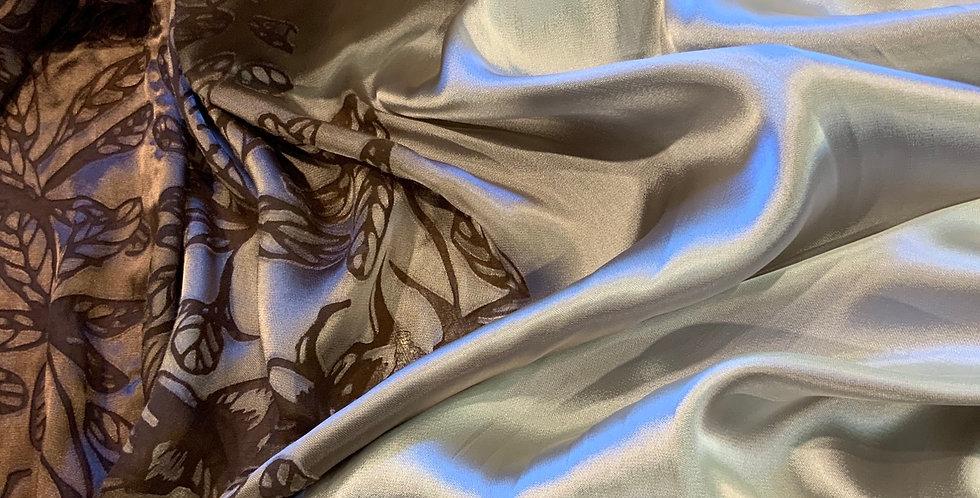 Autumn Leaves Burnout Silk blend Satin...