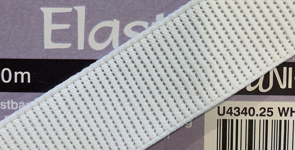 25mm Ribbed Non-Roll Elastic...