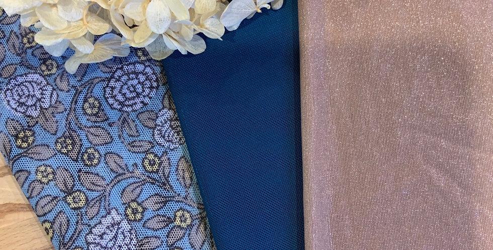 Blue Bloom 3 Pack Lingerie Fabrics