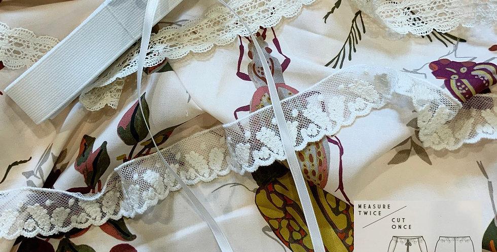 Lady McElroy Sacred Symbol Vanilla Rachel Sleep Short Kit