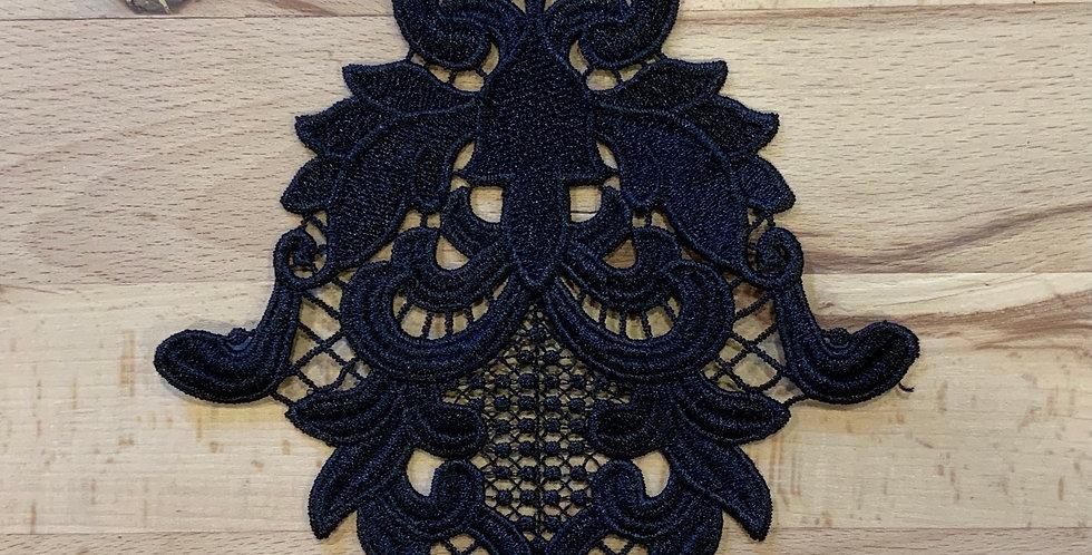 Large Black Guipure Motif