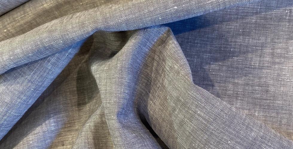 Soft Grey Yarn Dyed Lightweight Linen