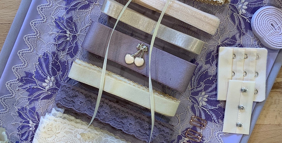 Lilac Lace Wired Bra Kit