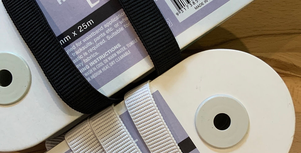 20mm Ribbed Non Roll Elastic....