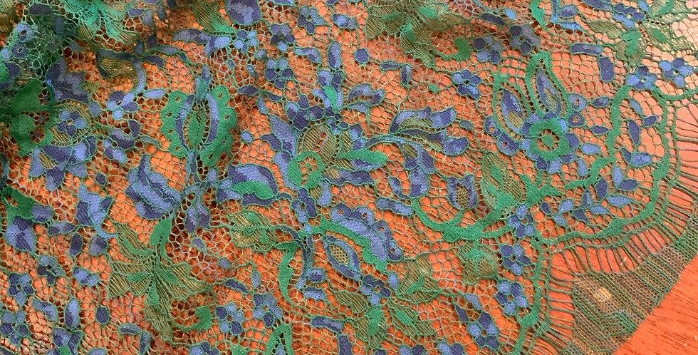 Emerald Empress Eyelash Lace Remnant