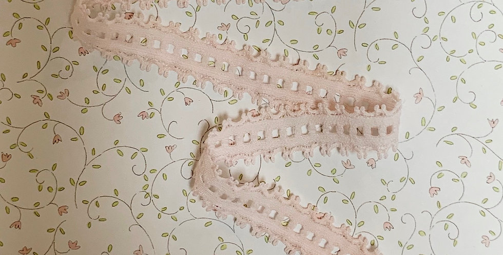 Pastel Pink Stretch Trim Remnant...