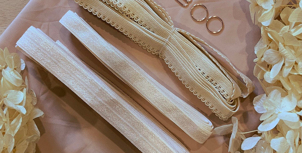 Soft Beige Stretch Lingerie Essentials Kit...