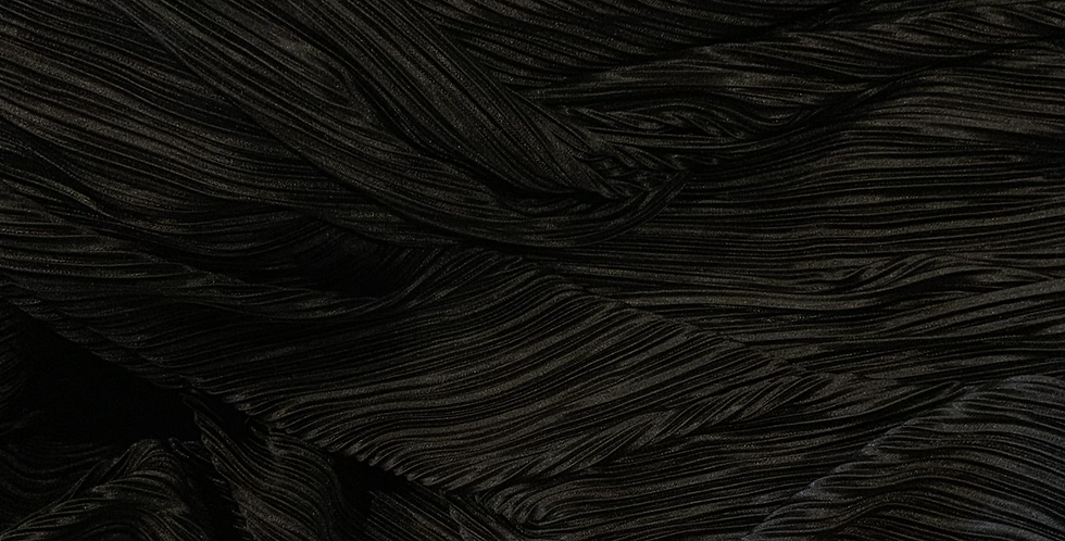 Black Micro Pleat Polyester Jersey