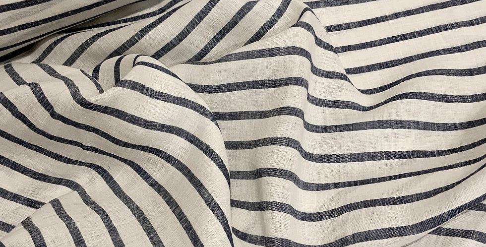 Chambray Stripes Linen...