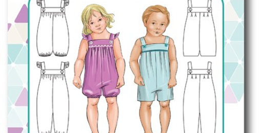 tadah patterns vintie overalls printed pattern