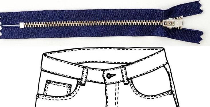 KATM jeans hardware refill kit navy copper