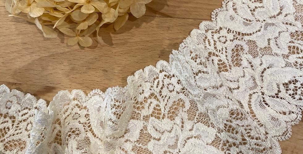 vanilla cream stretch lace