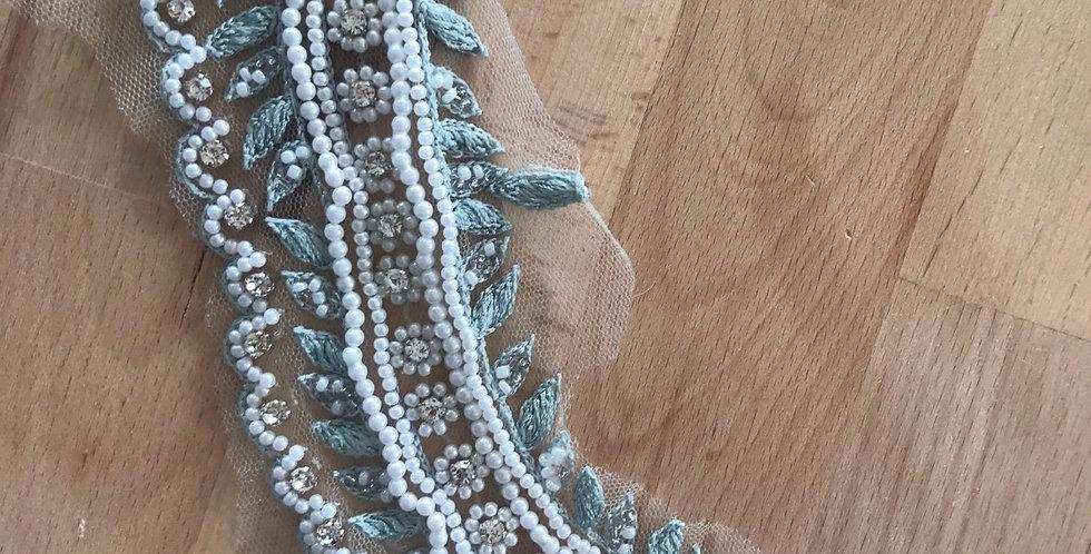 Seafoam lace piece #310