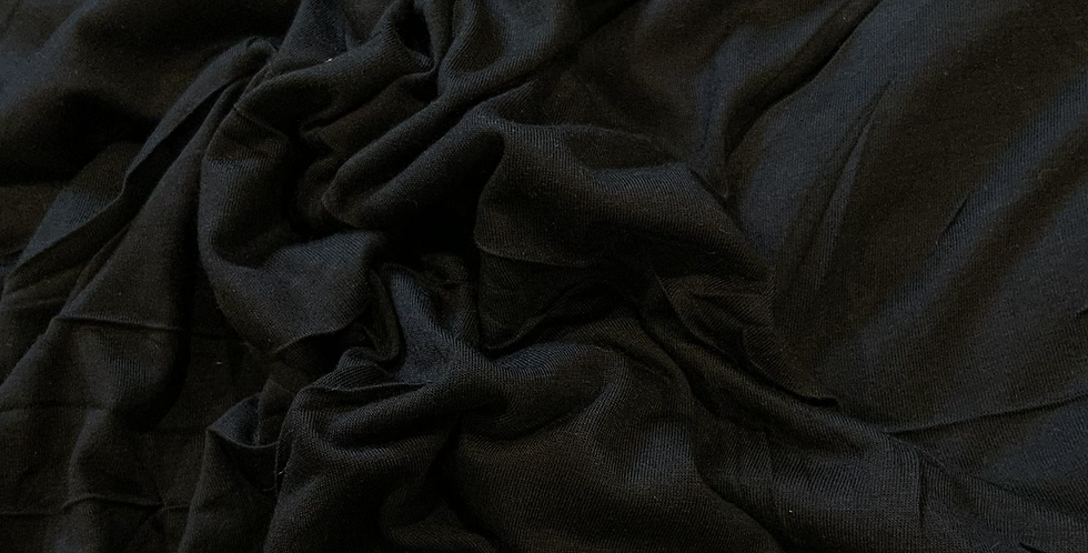 Black Fine Viscose Single Knit Remnant....