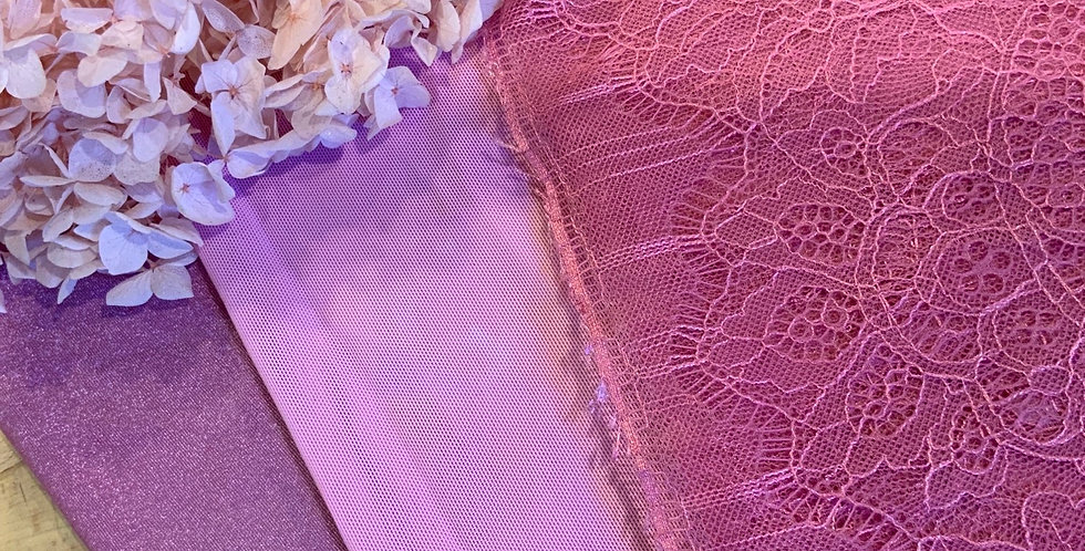 Pink Hand Dyed 3 Pack Lingerie Fabrics