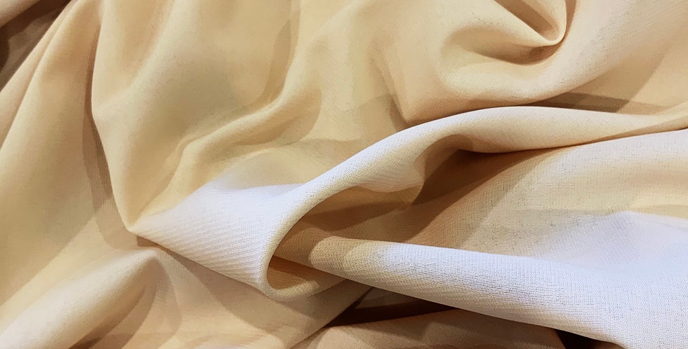3mtr bundle Light Tan Stretch Tripple Georgette ...