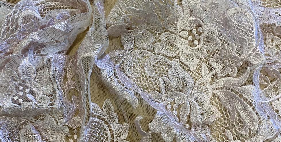 Pale dusty pink sequin lace piece 26